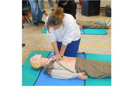 esercitazione di rianimazione cardio polmonare