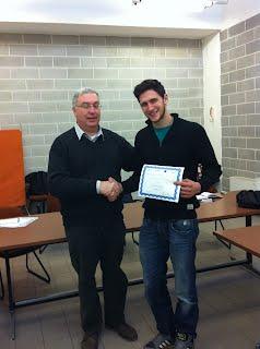 Lorenzo Jurman al termine dell'esame