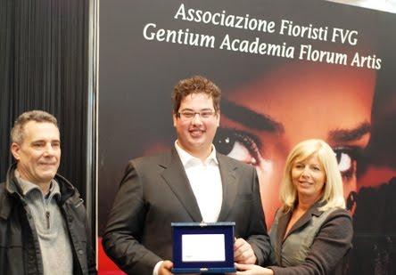 Premiazione di Giacomo Gerin